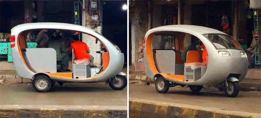 A Local Pakistani Mechanic Designed This Rickshaw