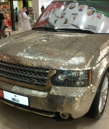 Range rover decorated with 57,412 coins