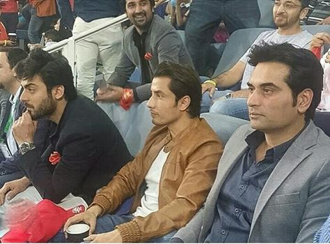 ‎Fawad Khan,‬ ‪‎Ali Zafar‬ & ‎Humaiyon Saeed‬ enjoying ‎PSL‬