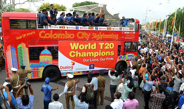 Sri Lankan Team Returns Home To Celebrate ICC WT20