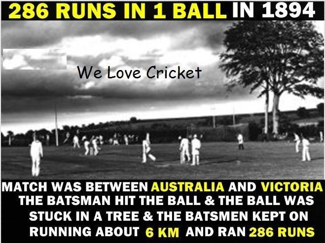 286 Runs In 1 Ball