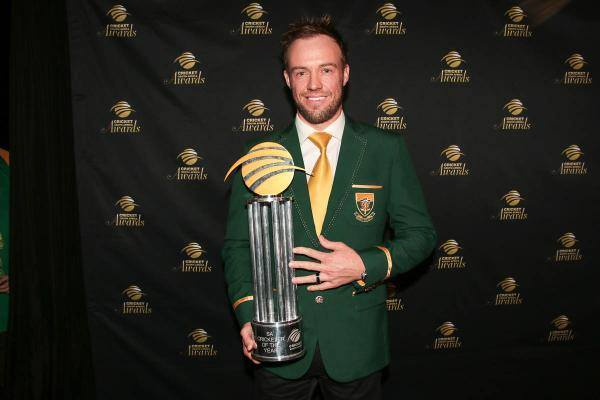 AB de Villiers Wins South African Cricketer Of The Year Award