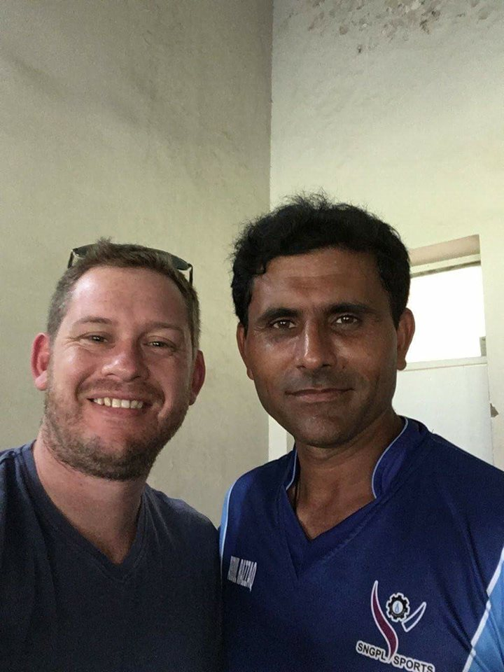 Abdul Razzaq With Famous Australian Journalist Denis Freedman