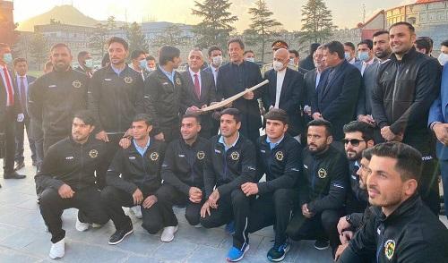 Afghanistan Cricket Team Welcomes PM Imran Khan On His Visit In Kabul