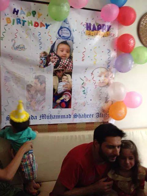 Afridi Daughter Ajwa Shahid And Shaheer Birthday Together