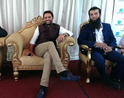 Afridi With Moeen Ali At SAF Fund Raising Event