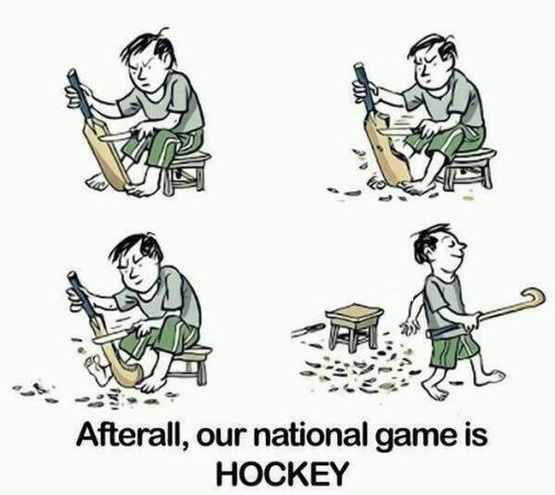 After All Our National Game Is Hockey