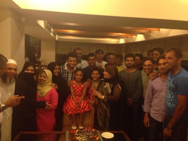 Ahmad Shahzad At Mushtaq Ahmad's daughter Sumiya birthday