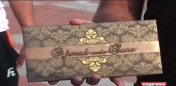 Ahmad Shahzad Wedding Invitation Card