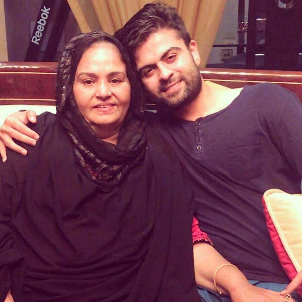 Ahmad Shahzad With His Mother