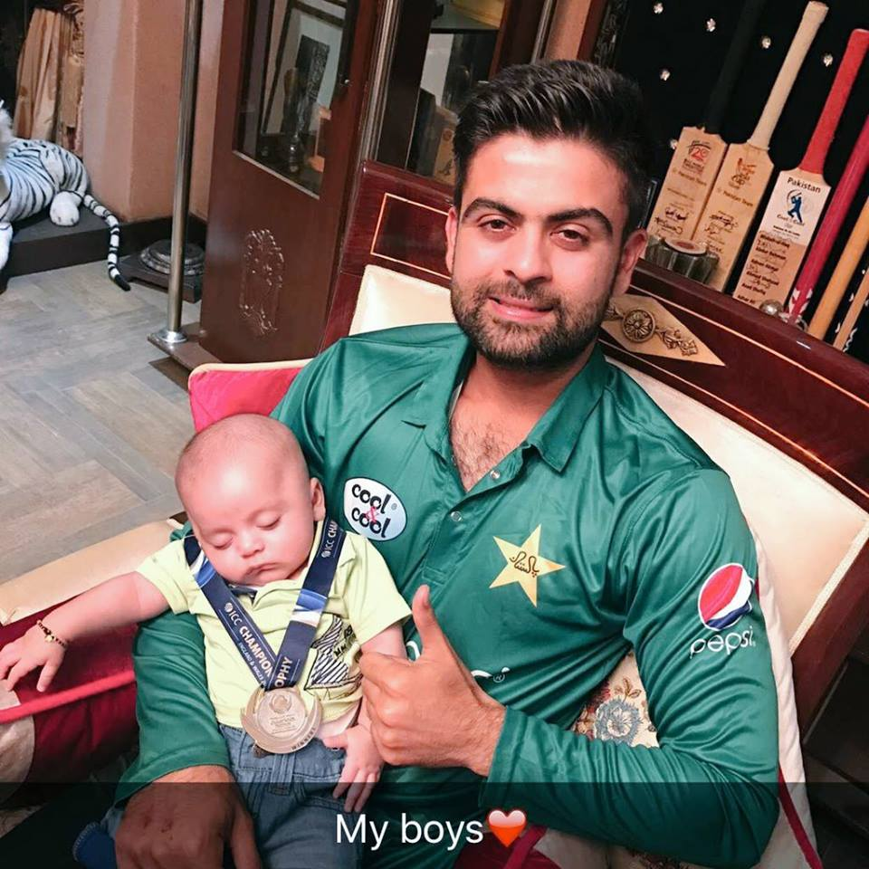 Ahmad Shahzad With His Son