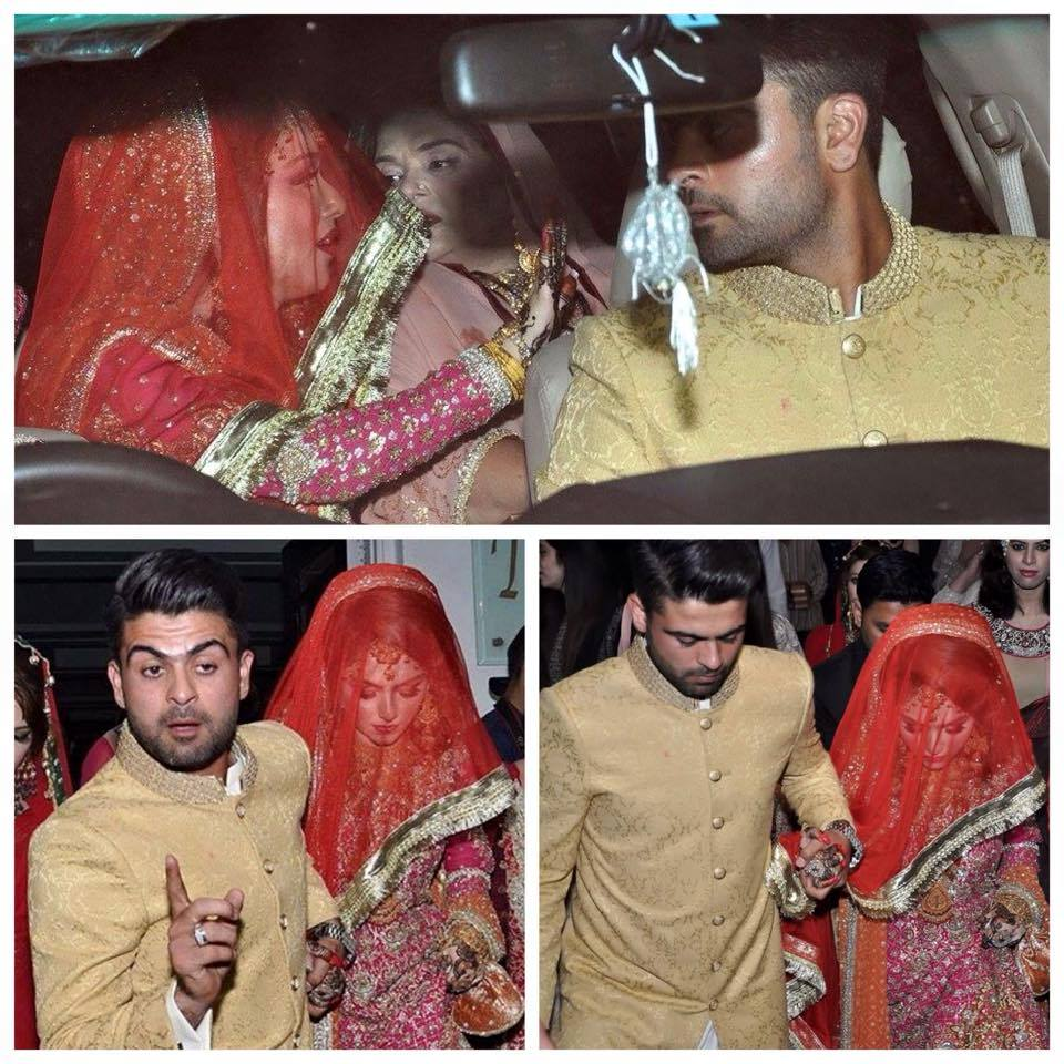 Ahmad Shahzad with His Bride During Rukhsati