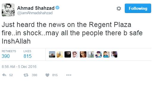 Ahmad Shehzad Tweet