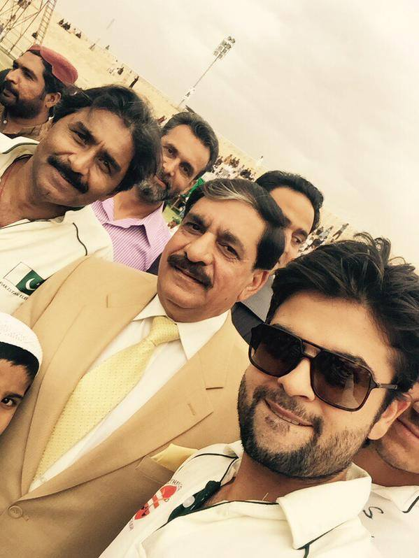 Ahmed Shahzad With General Janjua And aved Miandad