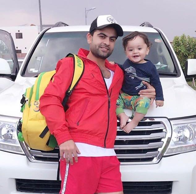 Ahmed Shahzad With His Son