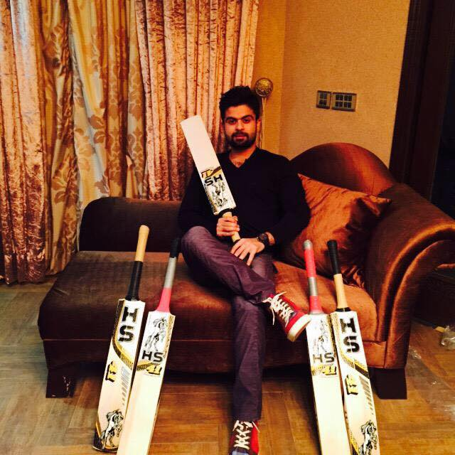 Ahmed Shehzad With His Bats