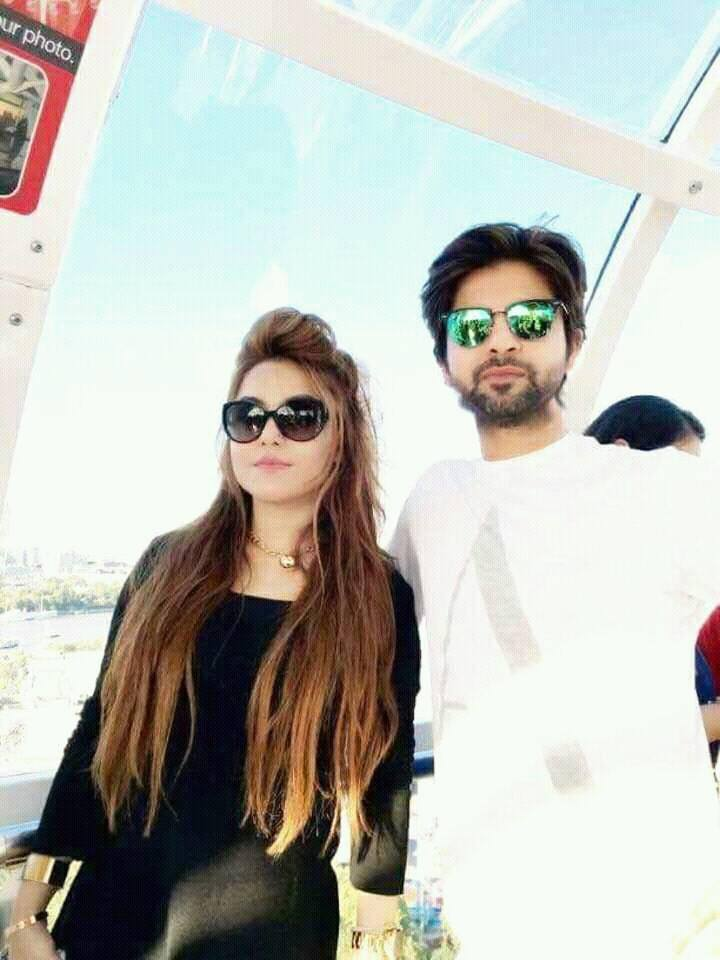 Ahmed Shehzad With His Wife