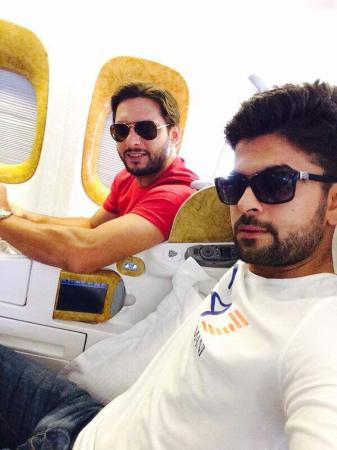 Ahmed Shehzad With Shahid Afridi Traveling To UK