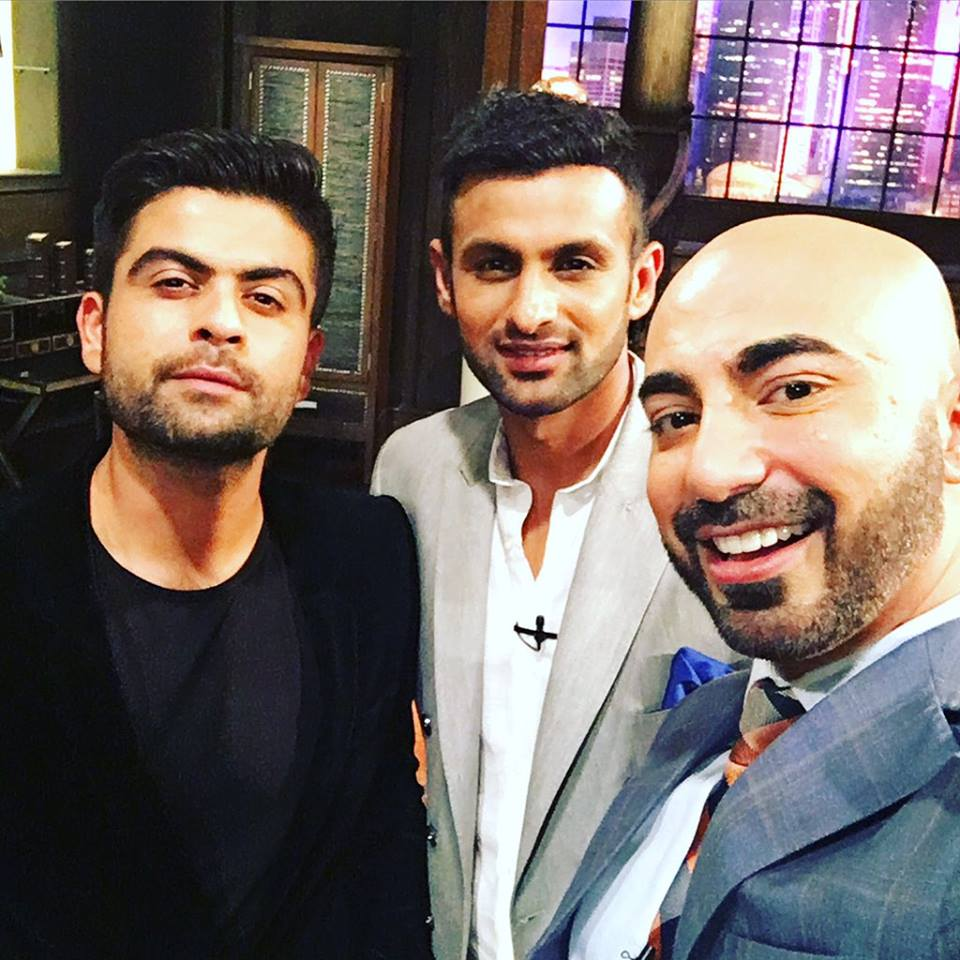 Ahmed Shehzad and Shoaib Malik pictured with HSY
