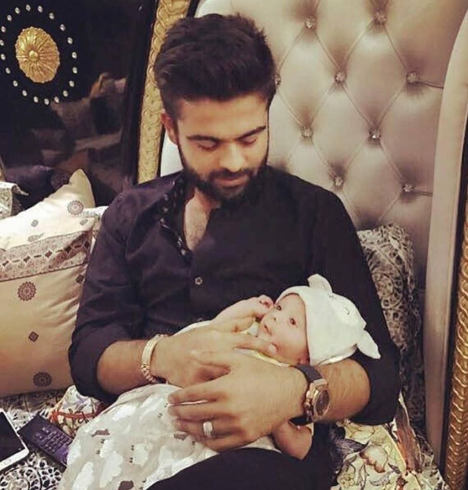 Ahmed shahzad With His Newborn Baby Boy