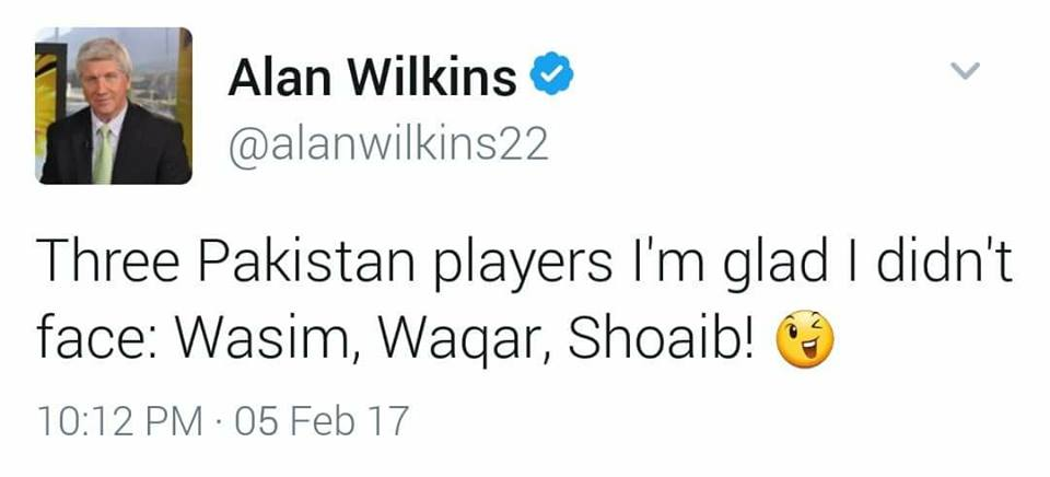 Alan Wilkins Tweet