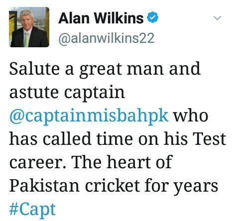 Alan Wilkins Tweet About Misbah