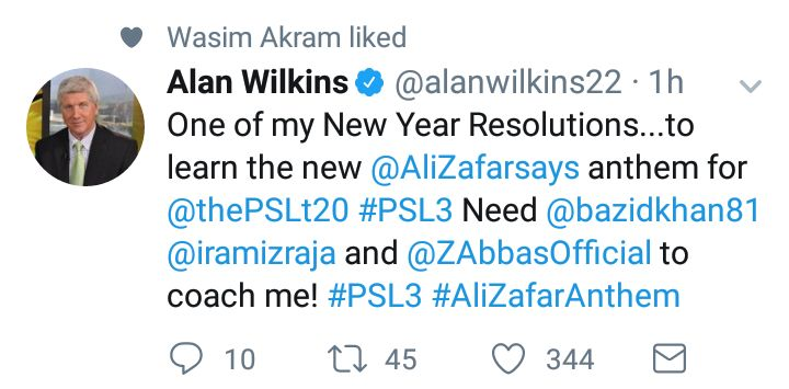 Alan Wilkins Tweeted About PSL 3