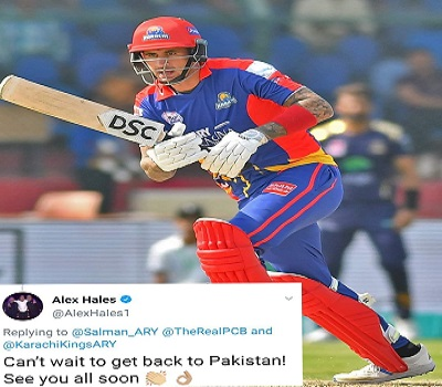 Alex Hales Excited To Come To Pakistan Again