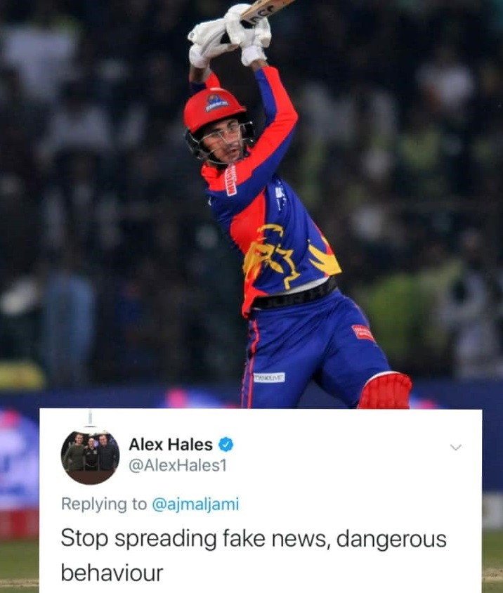 Alex Hales Turns Down Media Reports Regarding His Corona Virus Tests Positive