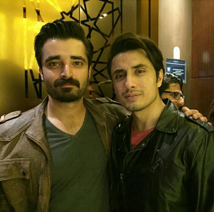 Ali Zafar nd Hamza Ali Abbasi At ‪‎PSL‬ opening ceremony