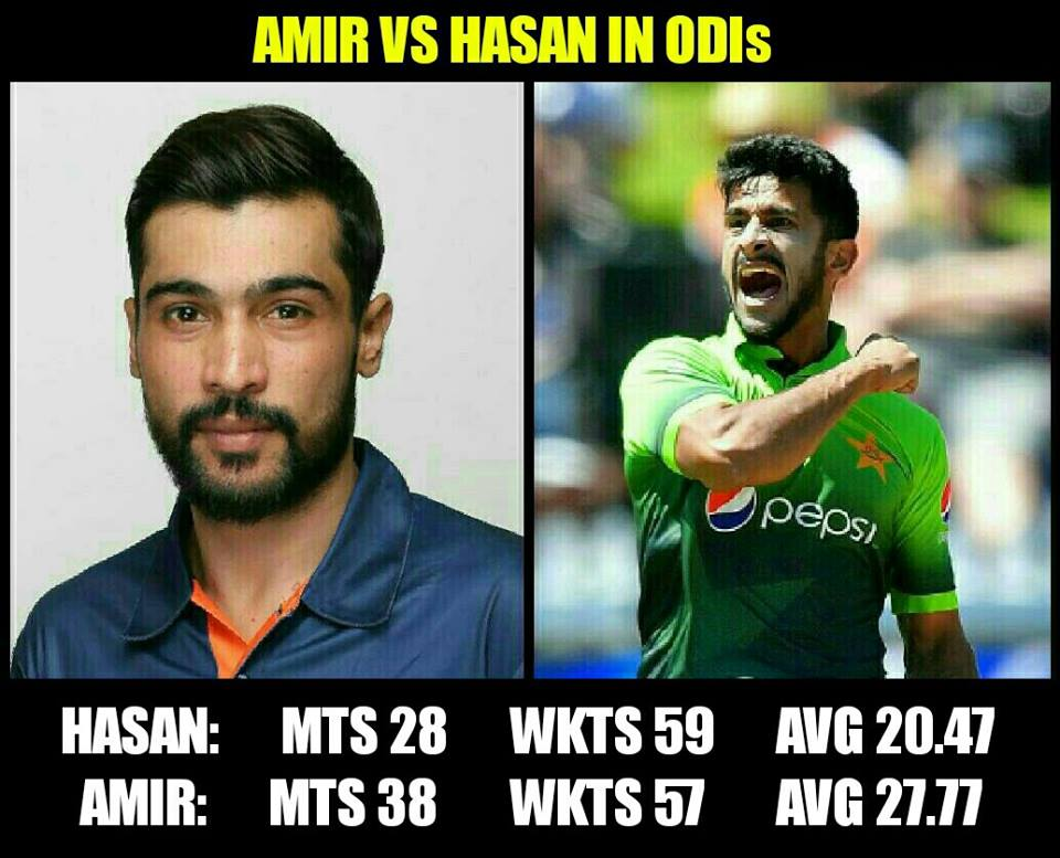 Amir Vs Hasan In ODIs