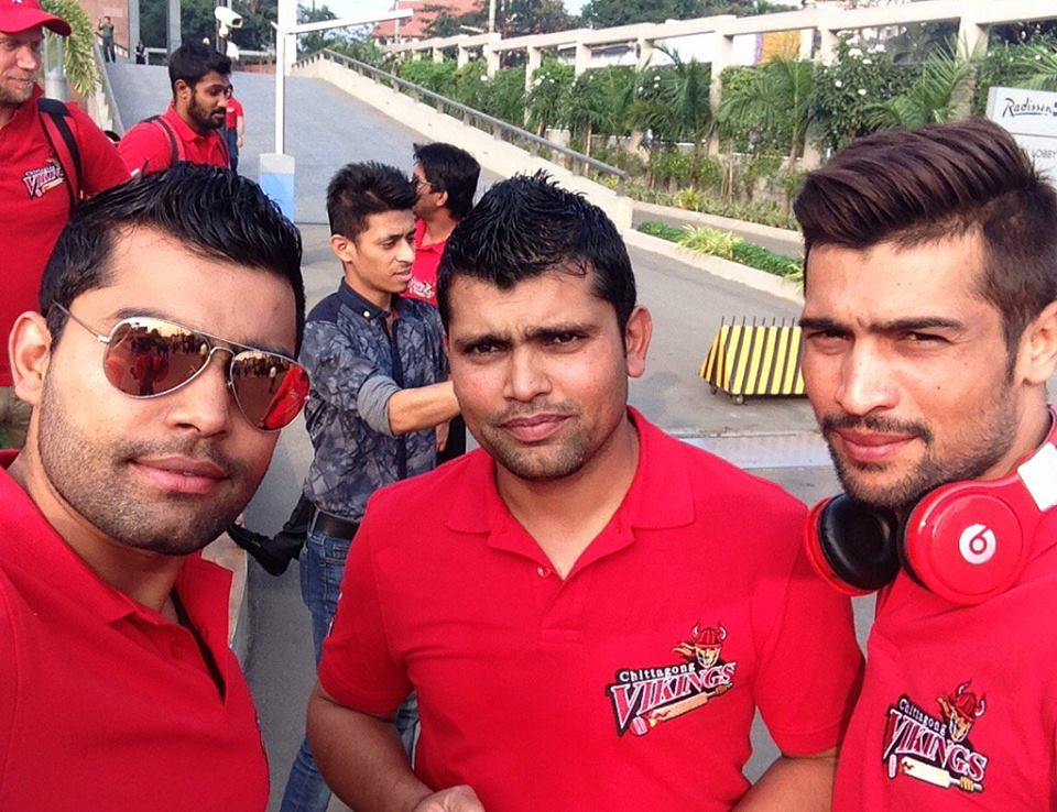 Amir with Akmal Brothers