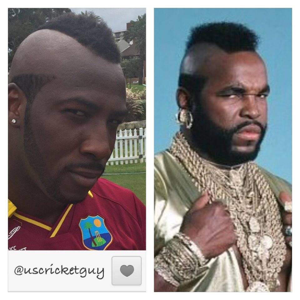 Andre Russell New Haircut Copy WWE Superstar Mr. T