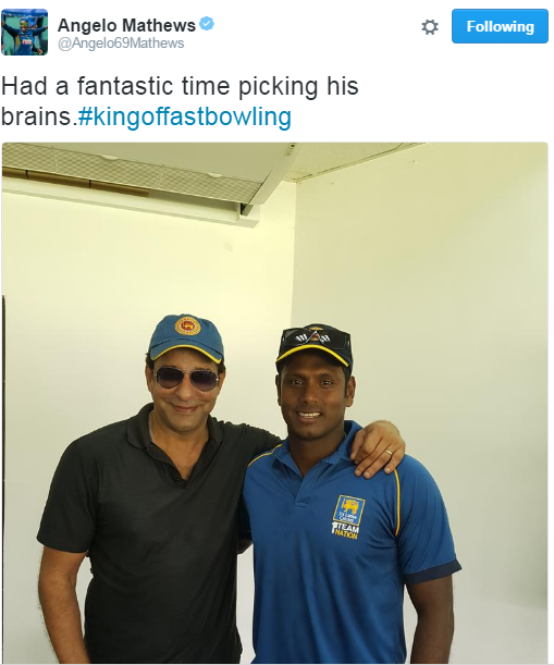Angelo Mathews Tweets