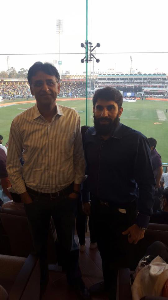 Asad Umar With Misbah In Gaddafi Stadium