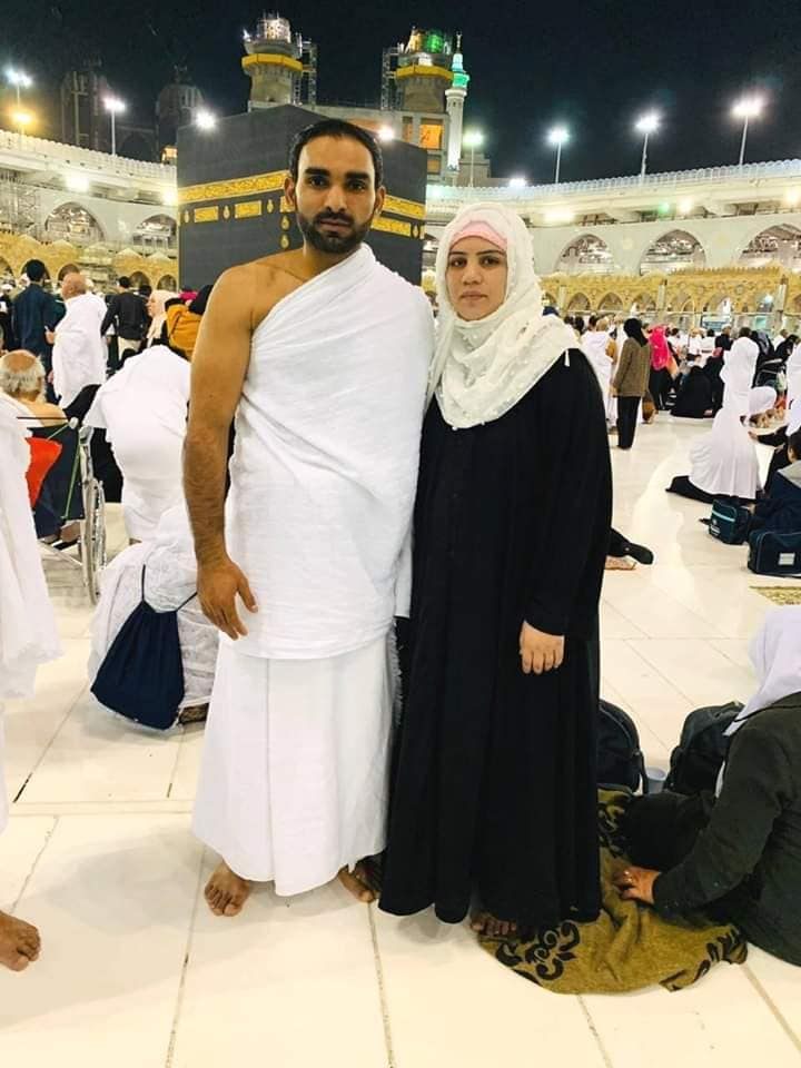 Asif Ali Performing Umrah With His Wife