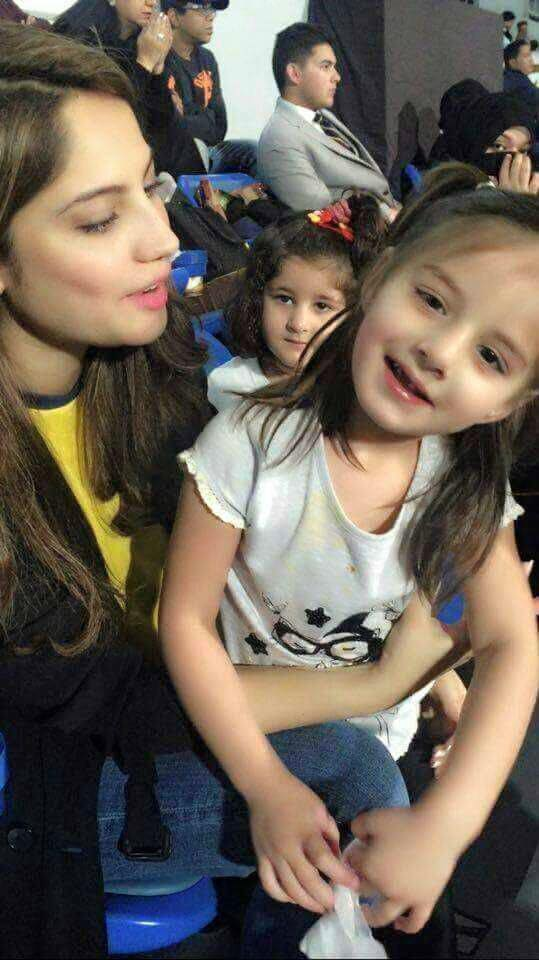 Asmara Afridi with Tv Actress Neelam Munir