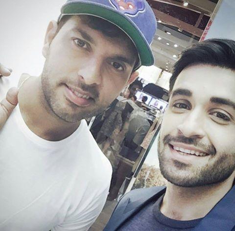 Azfar Rehman with Yuvraj Singh