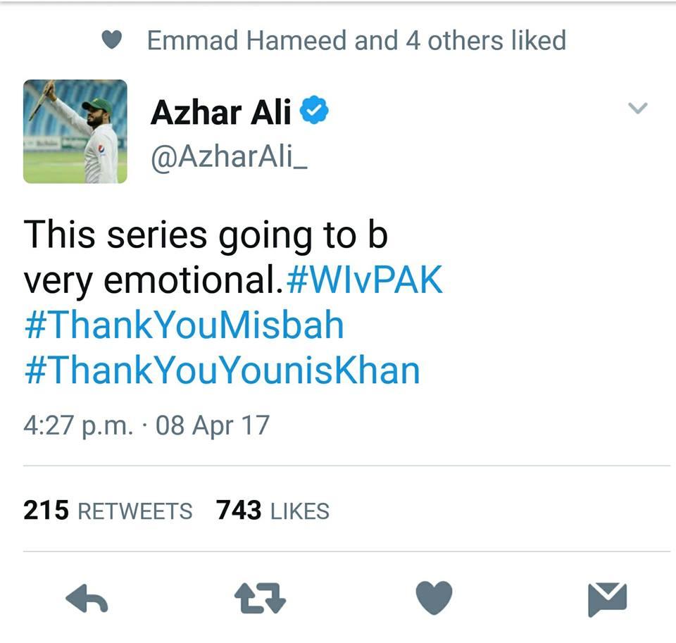 Azhar Ali Tweet