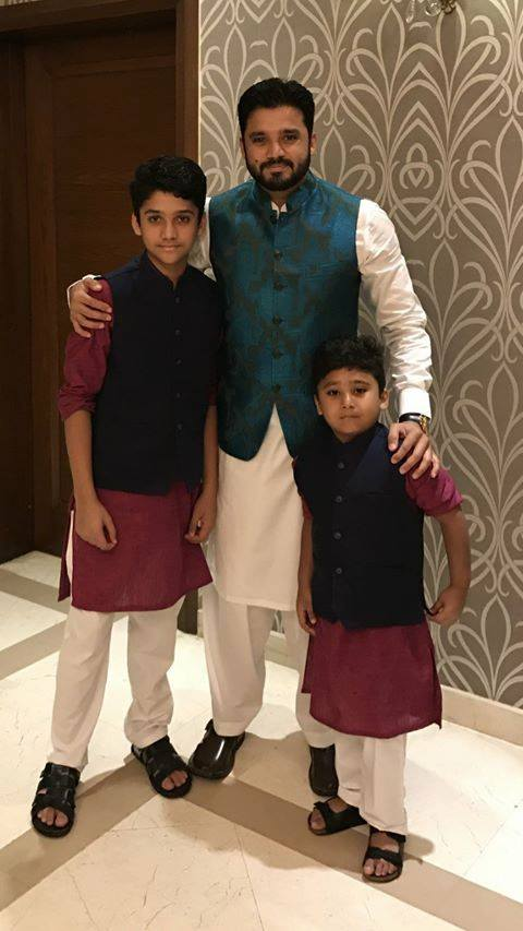 Azhar Ali With His Kids On Eid