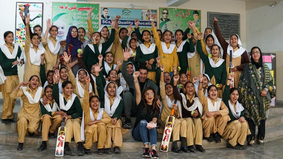 Azhar Mahmood And His Wife Visited The Citizen Foundation Girls School In Lahore