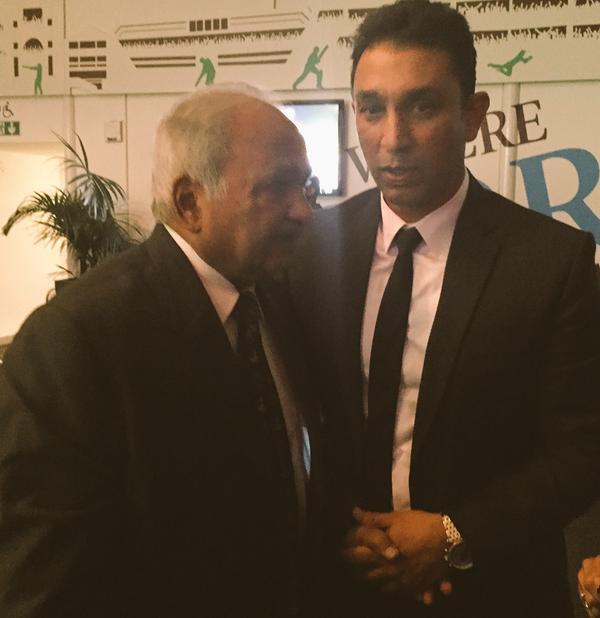 Azhar Mahmood with legendary Mushtaq Muhammed