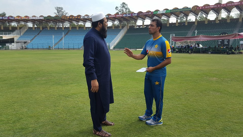 Azhar Mehmood With Chief Selector Inzamam