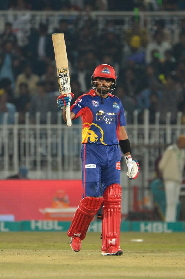 Babar Azam Recorded His 2nd Fifty Of PSL 5