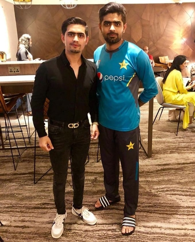 Babar Azam With His Younger Brother Safeer Azam