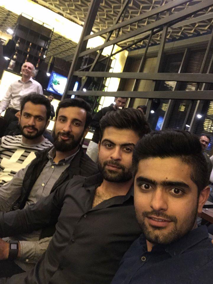Babar, Nawaz, Shan Masood & Ahmed Shehzad At Wahab Riaz Arcadian Cafe