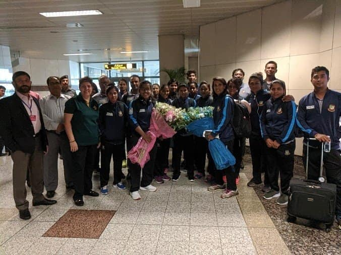 Bangladesh Women Arrives In Lahore For T20I And ODI Series