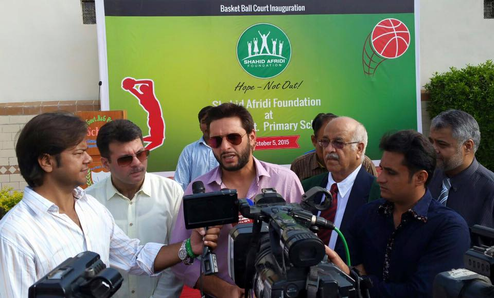 Basketball Court Inauguration by Shahid Afridi Foundation in Govt. School