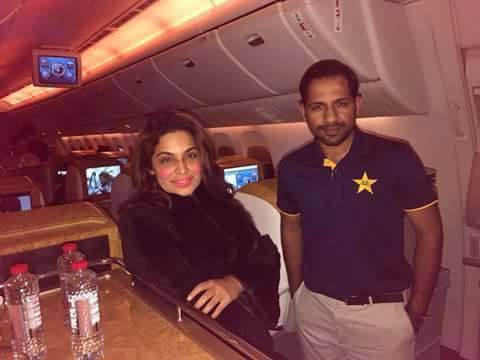 Captain Sarfaraz With Meera