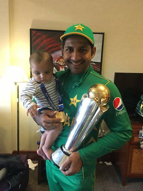 Captain with Prize and his son Abdullah